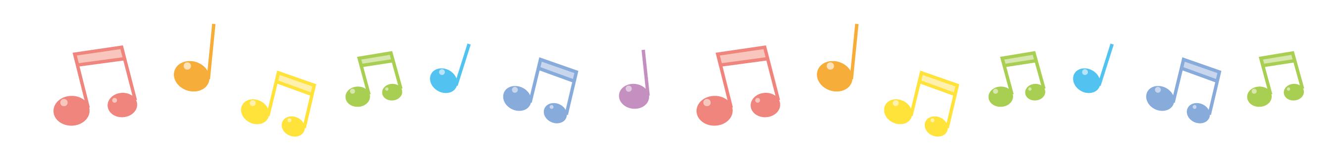 カラー五線譜